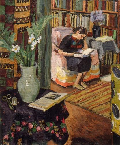 Girl Reading by Vanessa Bell