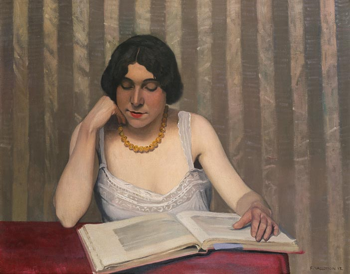 Reader with Yellow Necklace by Félix Vallotton