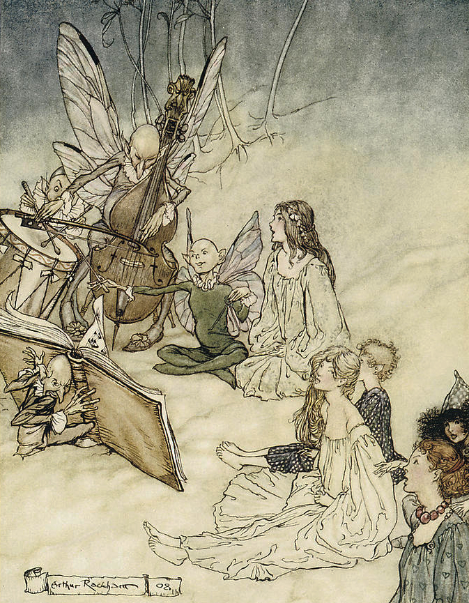 a Fairy Song by Arthur Rackham