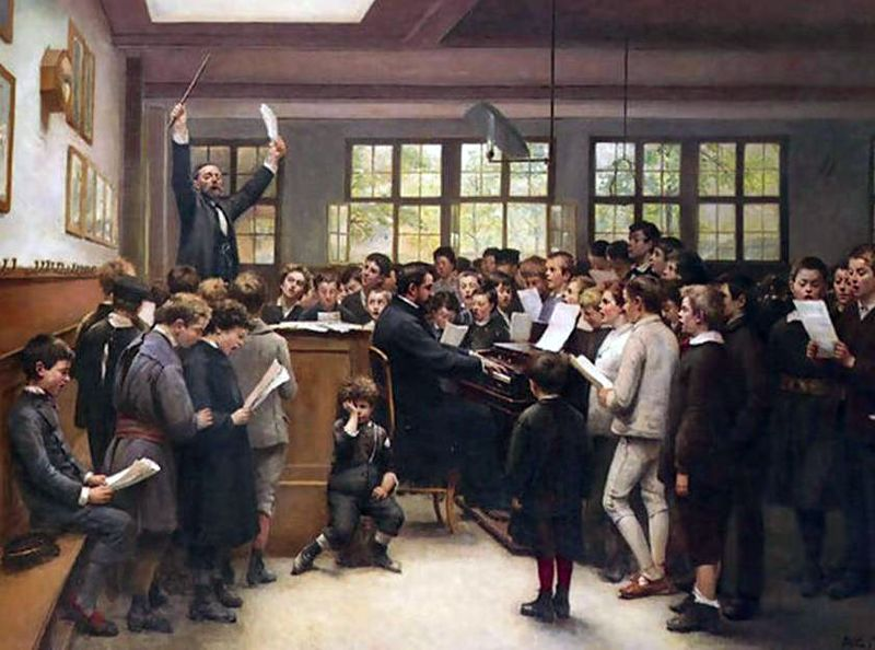 The Choir Lesson by Auguste Trupheme
