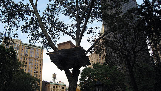 Tree Huts installation, NYC