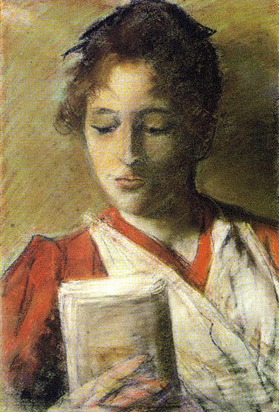 Young Woman Reading by Giovanni Fattori (Italy)