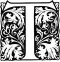 Victorian era decorated letter