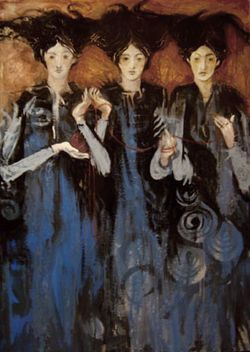 Three Muses by Oliver Hunter