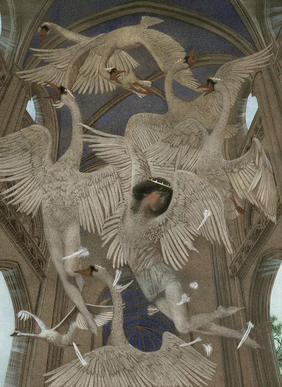 The Wild Swans, illustrated by Nadezhda Illarionova