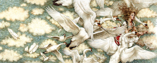 The Wild Swans, illustrated by Yvonne Gilbert