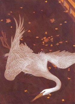 A Crane Wife illustration by Gennady Spirin