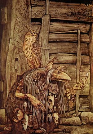 Troll Witch with Owl by Brian Froud