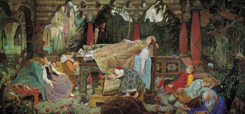 The Sleeping Tsarevna by Viktor Vasnetsov