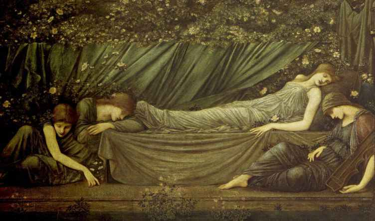 A study for the Briar Rose sequence by Sir Edward Burne-Jones
