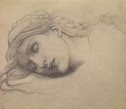 Drawing by Sir Edward Burne-Jones
