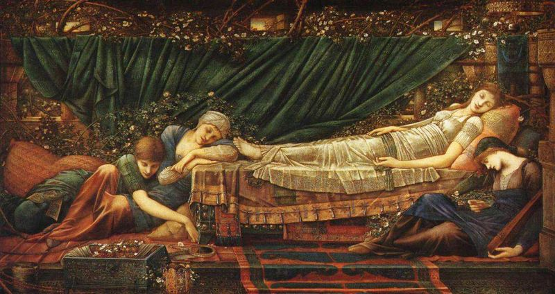 From the Briar Rose sequence by Sir Edward Burne-Jones