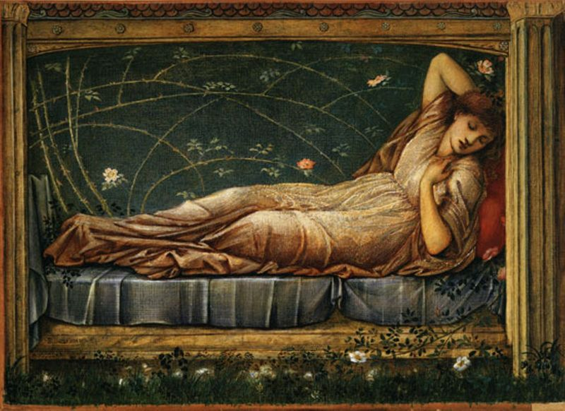 Sleepin Beauty panel by Sir Edward Burne-Jones