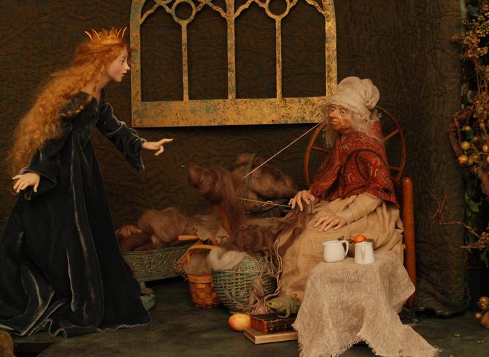 Sleeping Beauty, Scene Two - doll art by Ann Brahms