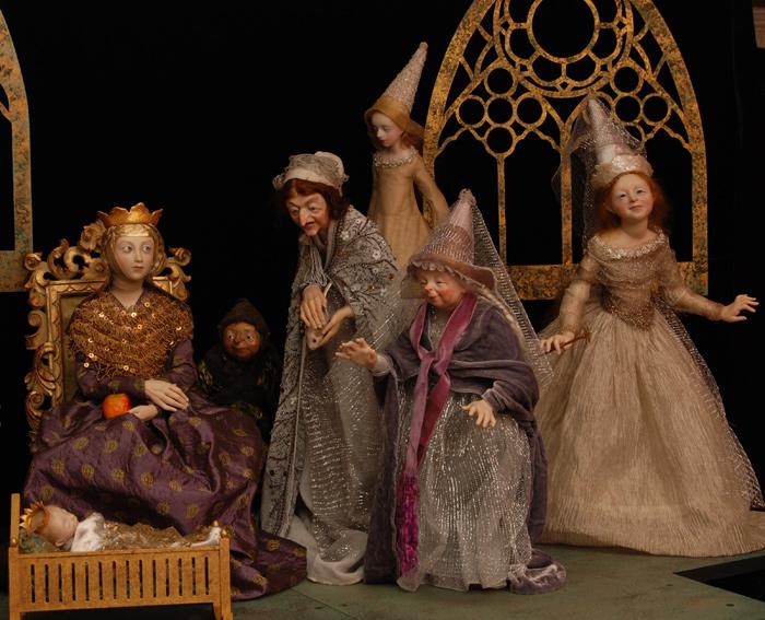 Sleeping Beauty, Scene 1 - doll art by Anna Brahms