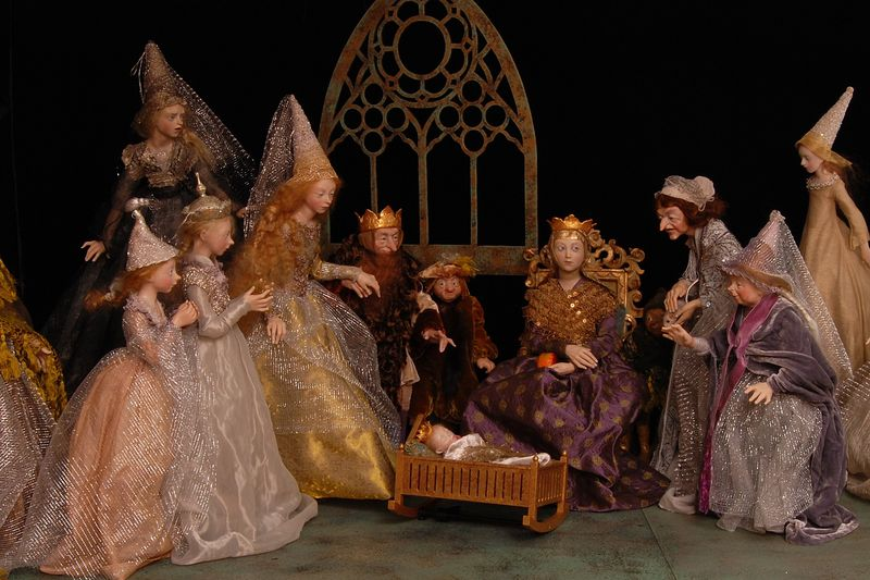 Sleeping Beauty, Scene 1 - doll art by Anna Brahms