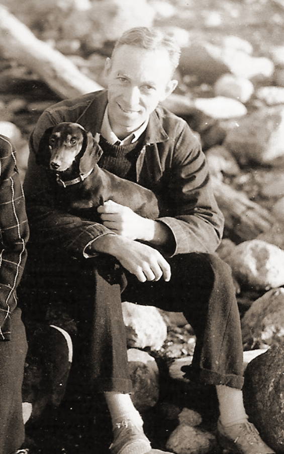 E.B. White and his dog Minnie