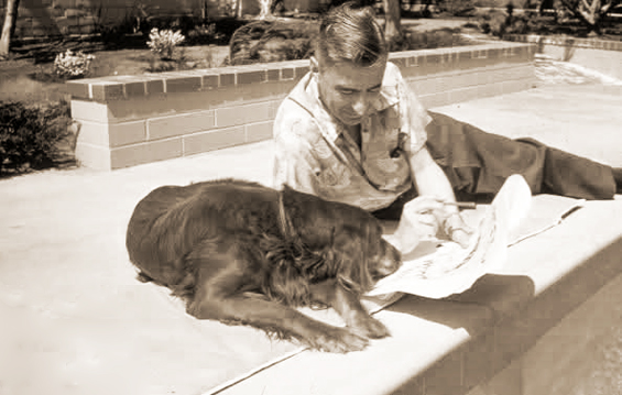 Dr. Suess and his dog Cluny