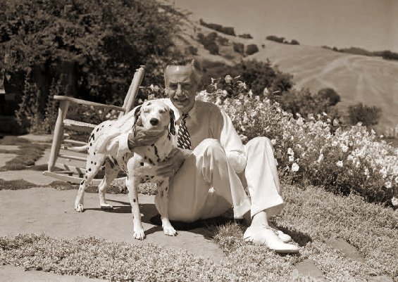 Eugene O'Neill and his dog Blemie
