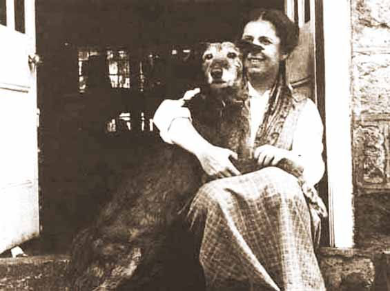 Karen Blixen (Isak Dinesen) and her dog