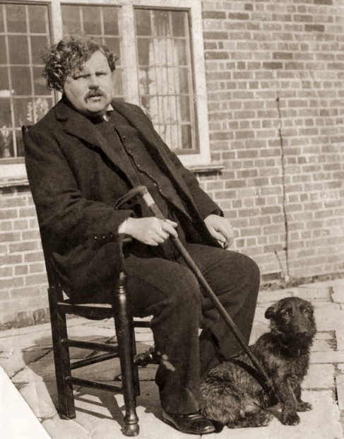 G.K. Chesterton and his dog