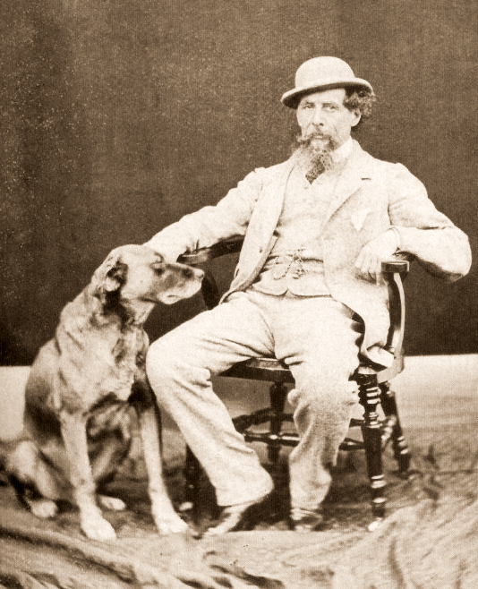 Charles Dickens and his dog Turk