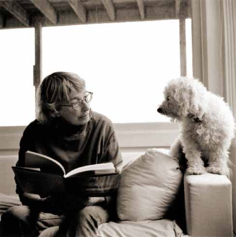 Mary Oliver and Percy (photograph by Rachel Giese Brown)