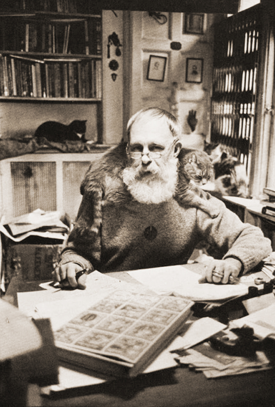 Edward Gorey and his cats