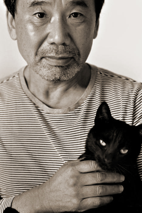 Haruki Murakami and his cat