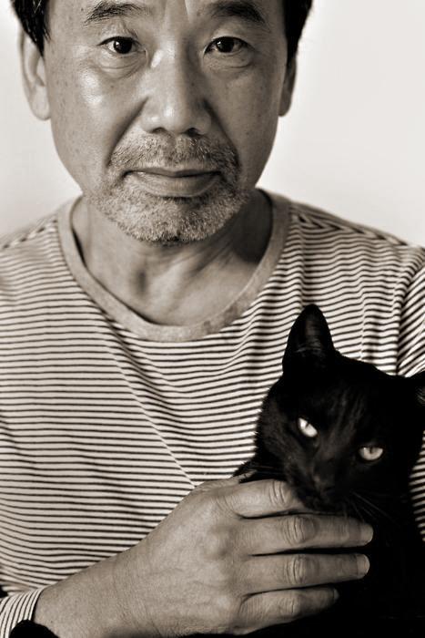Haruki Murakami and his cat