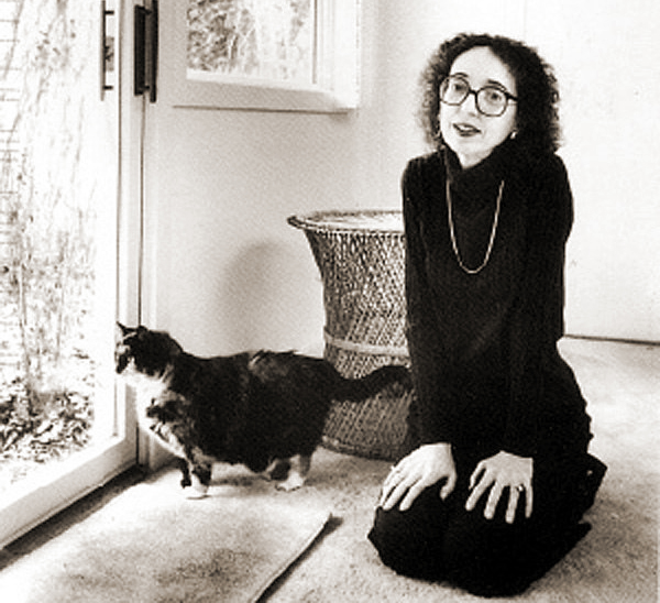 Joyce Carol Oates and her cat