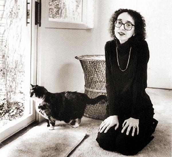 Joyce Carol Oates and her cat