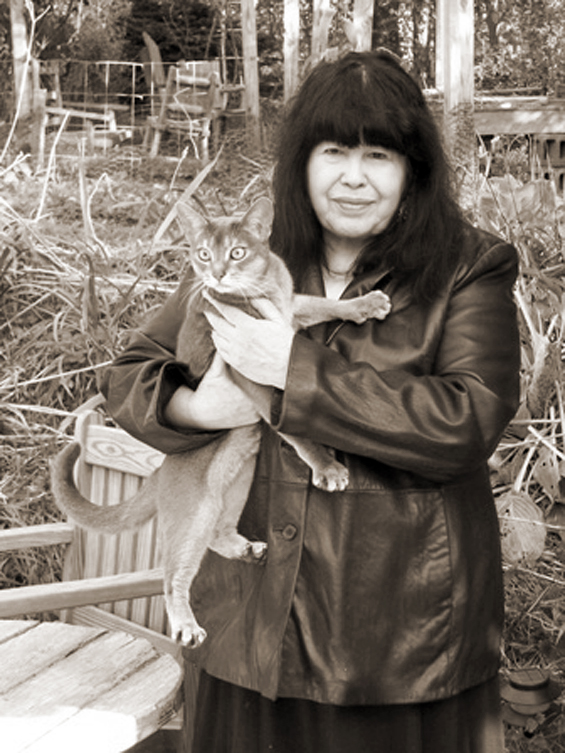 Marge Piercy and one of her cats