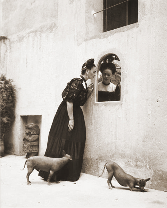 Frida Khalo and her dogs