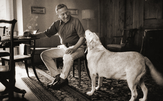 John Cheever and Flora (photograph by Jill Krementz)