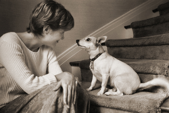Ann Patchett with Rose (photograph by Jill Krementz)
