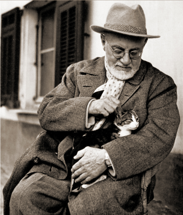 Heni Matisse and his cat Miouche