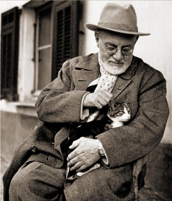 Heni Matisse and his cat Miouche