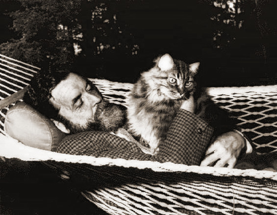 Randall Jarrell and his cat