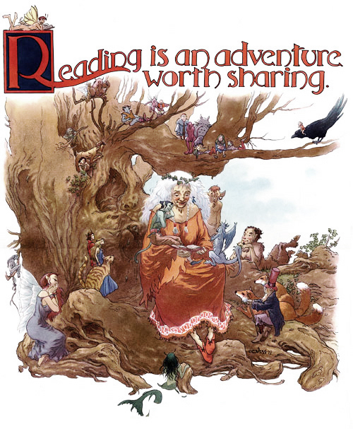 Reading is an Adventure by Charles Vess