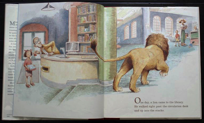 From Library Lion by Michelle Knudson