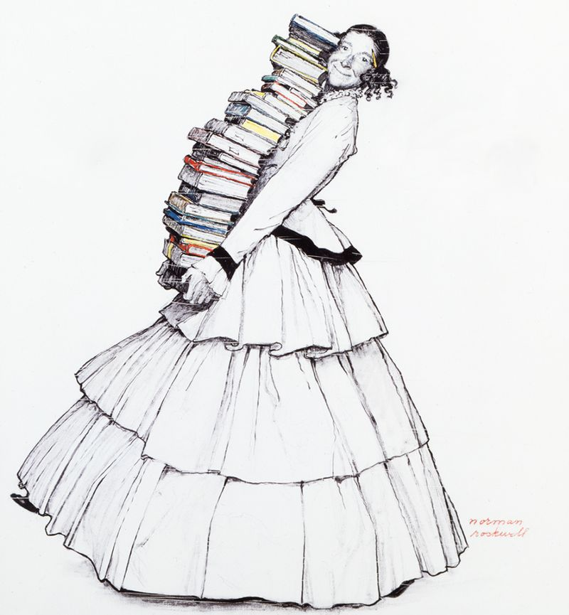 The Stockbridge Library by Norman Rockwell