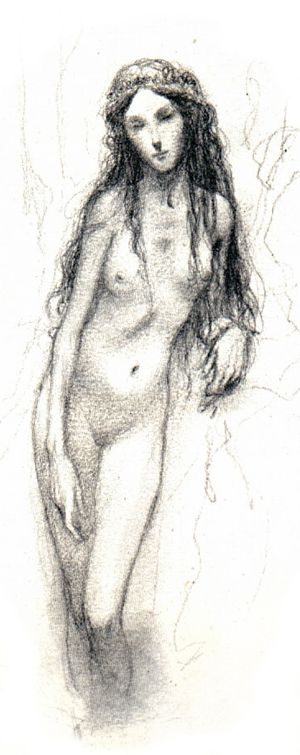 Drawing by Alan Lee