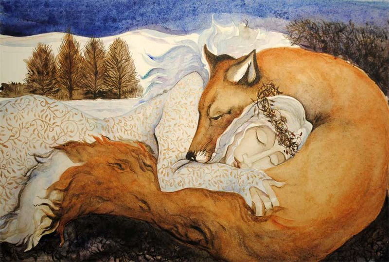 Winter Queen and Fox Lover by Jackie Morris