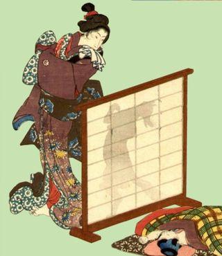 Fox Mother and Child by Utagawa Kuniyoshi