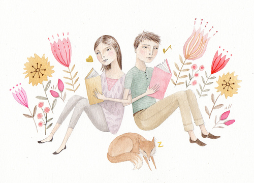 Reading Together by Julianna Swaney