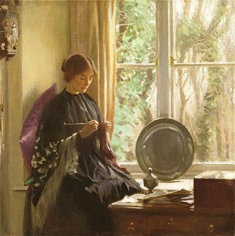 Knitting by Harold Knight