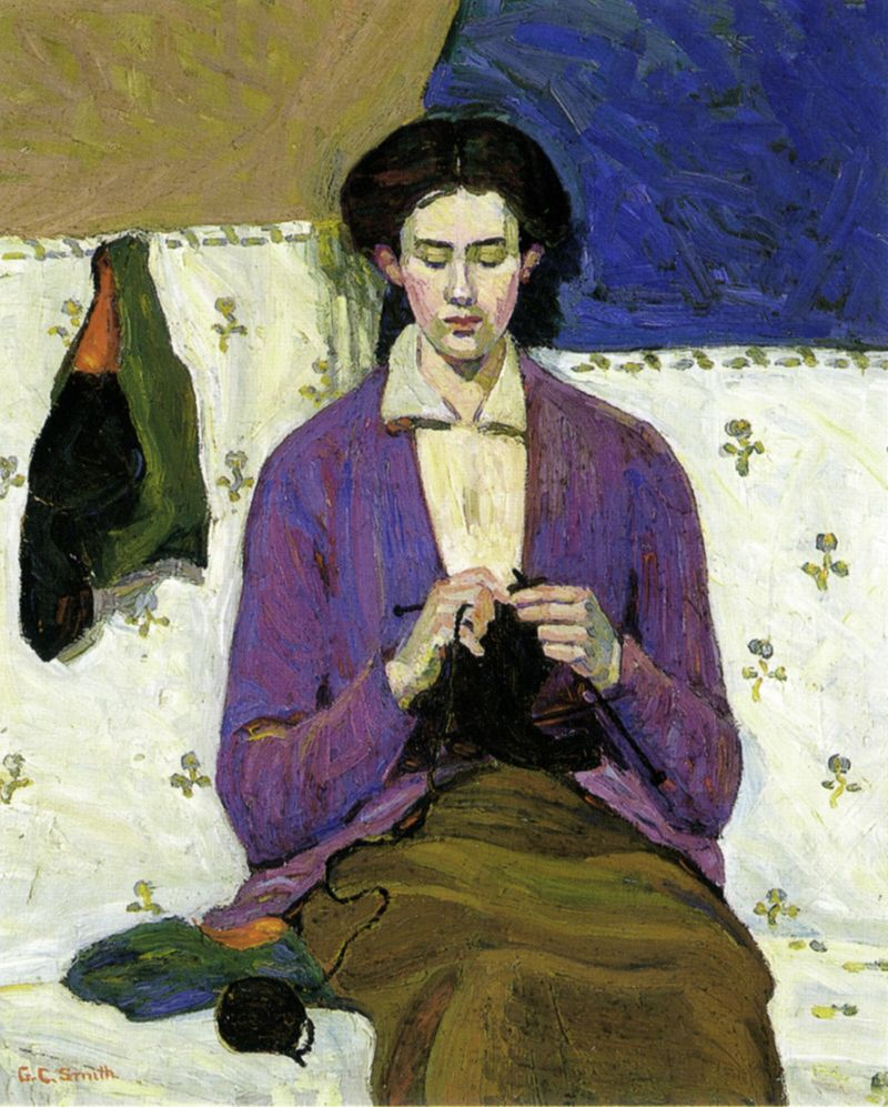 The Sock Knitter by Grace Cossington-Smith