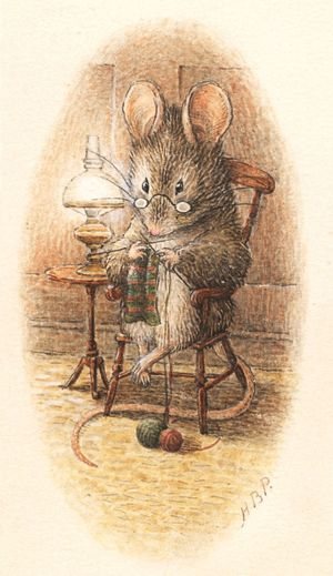 Knitting Mouse by Beatrix Potter