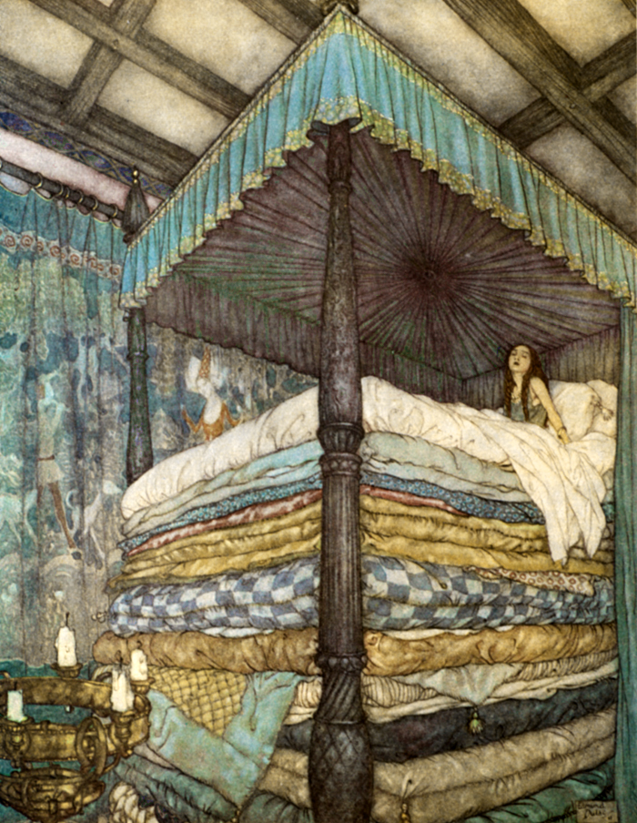 The Princess and the Pea by Edmund Dulac